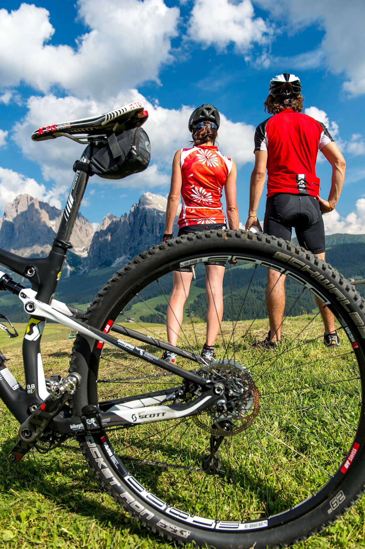 Col mountain bike sull'Alpe di Siusi